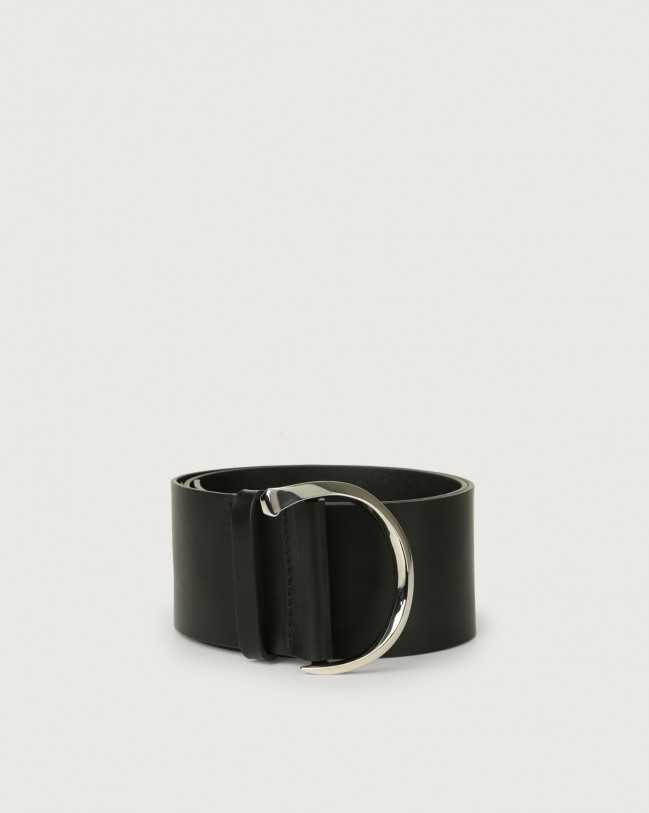 Orciani Bull high waist leather belt Leather Black