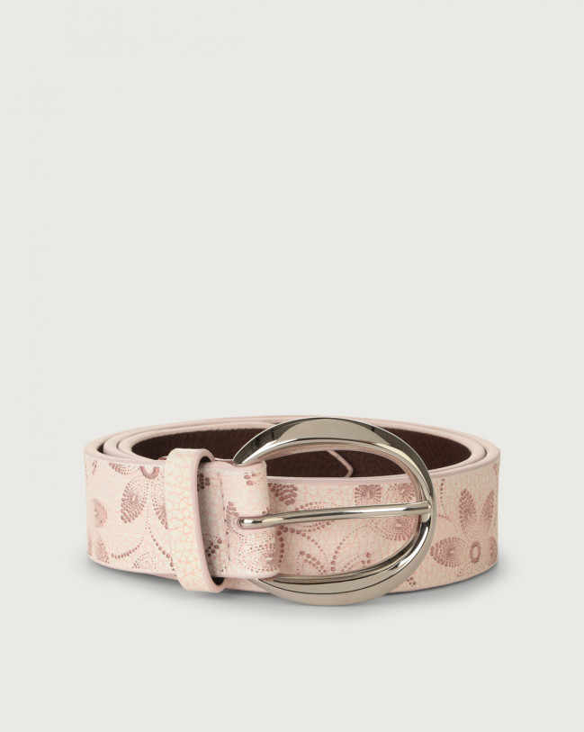 Orciani Micron Color leather belt Leather Pink