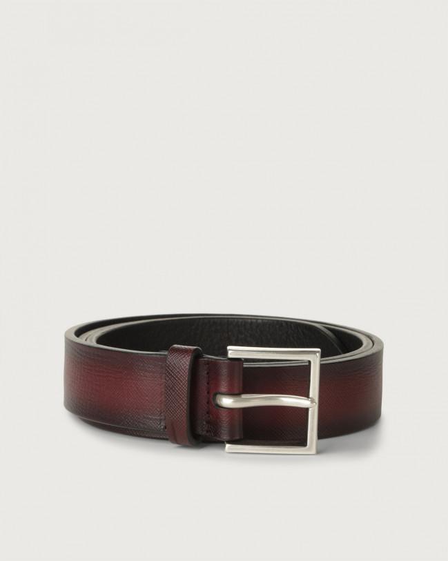 Orciani Saffiano Deep leather belt Leather Bordeaux