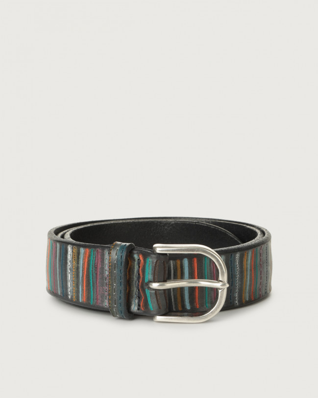 Orciani African leather belt Leather Multicolor
