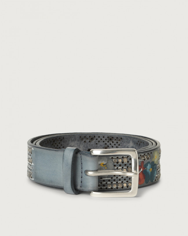Orciani Asian hand-painted leather belt Leather Denim