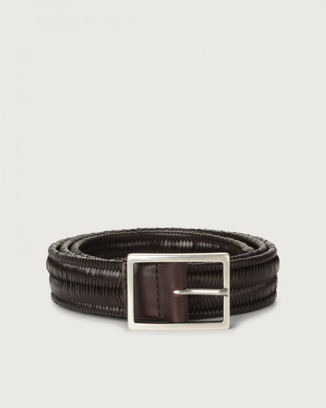 Orciani String Elast leather belt Leather Chocolate