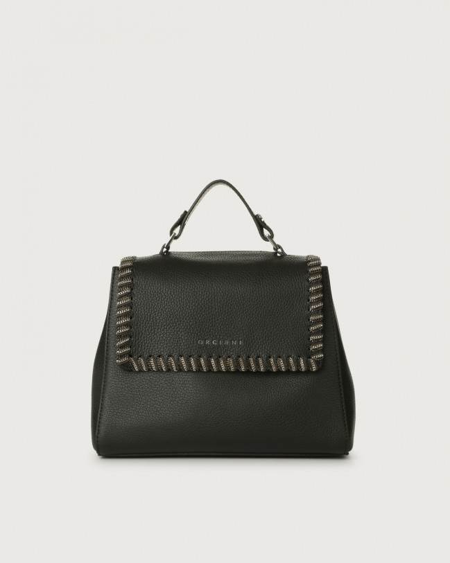 Orciani Sveva Chain small leather handbag Black