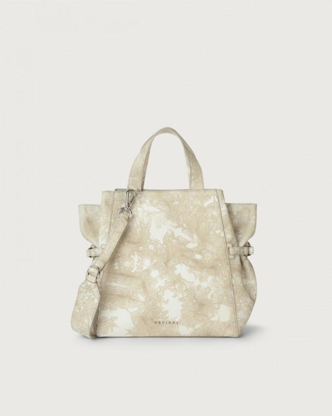 Orciani Fan Caleido medium leather handbag Leather Sand