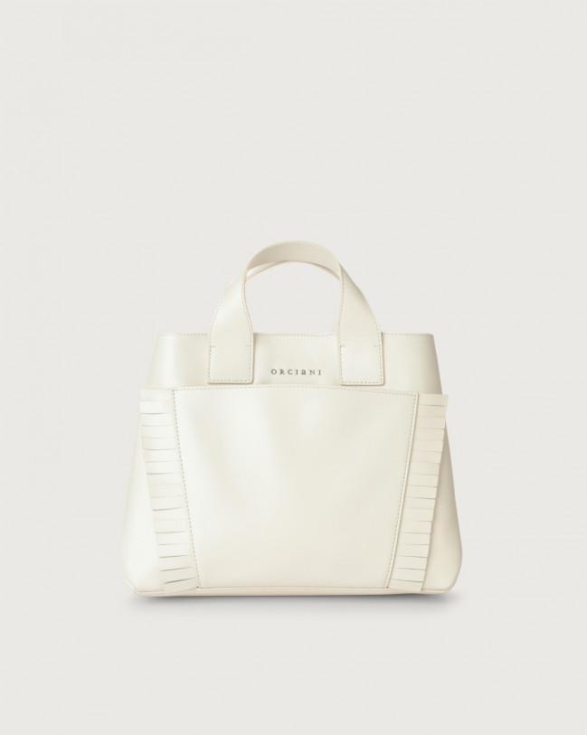 Orciani Nora Liberty Fringe leather handbag Leather White