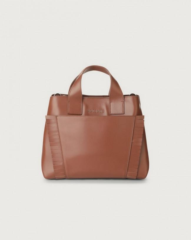 Orciani Nora Liberty Fringe leather handbag Leather Cognac