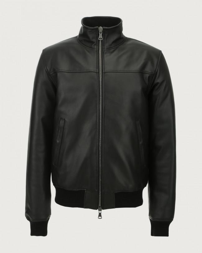 Orciani Nappa leather jacket Leather Black