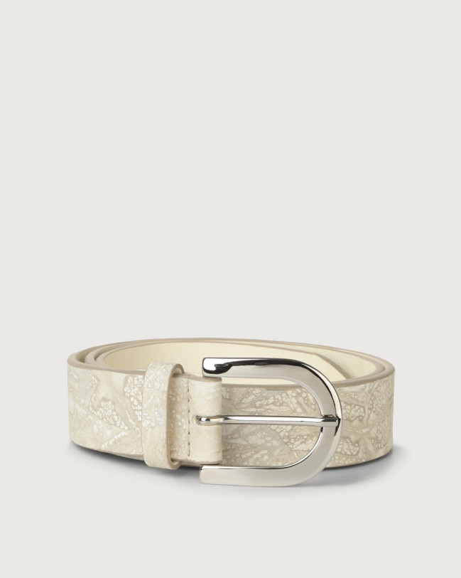 Orciani Caleido leather belt Leather Sand