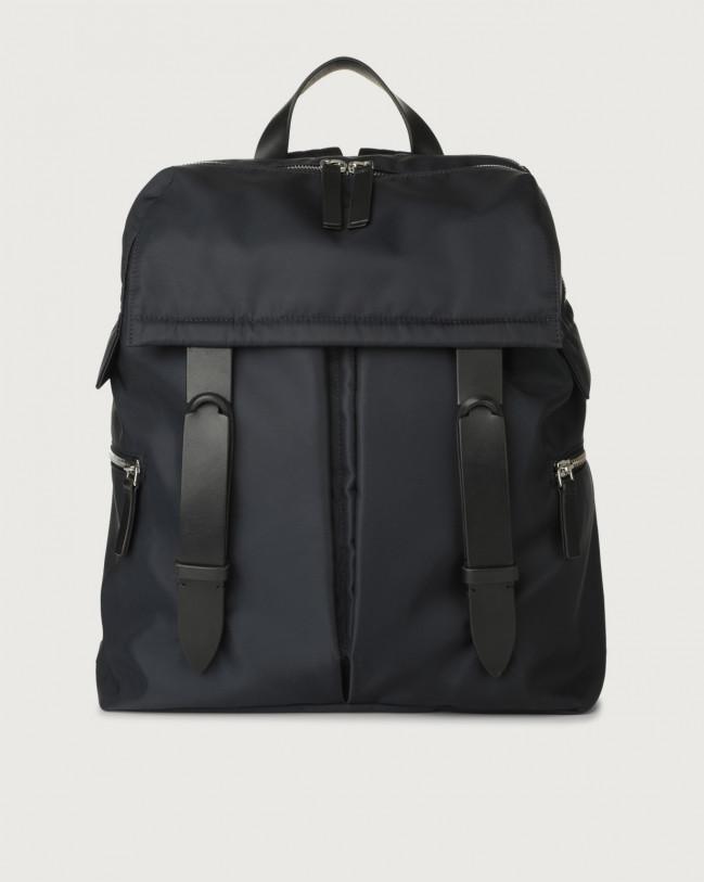 Orciani Nobuckle Eco-logic Planet backpack Canvas, Leather Blue
