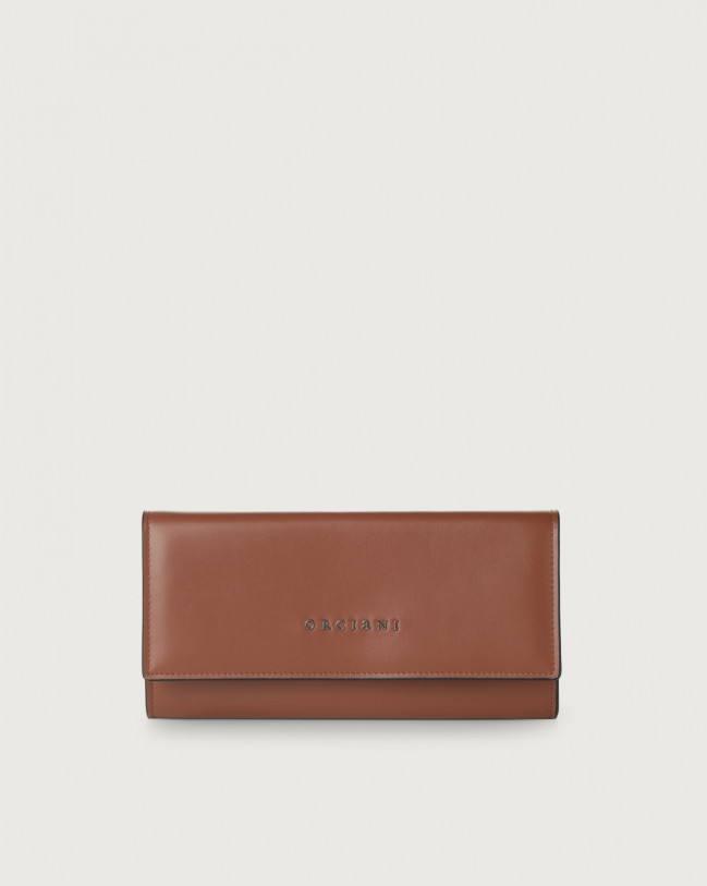 Orciani Liberty leather envelope wallet Leather Cognac