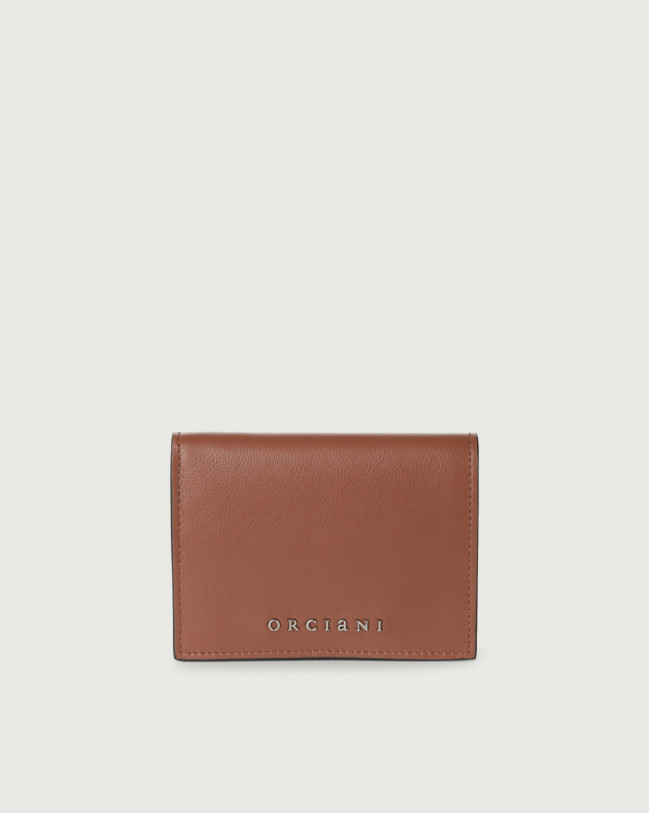 Orciani Liberty small leather wallet Leather Cognac