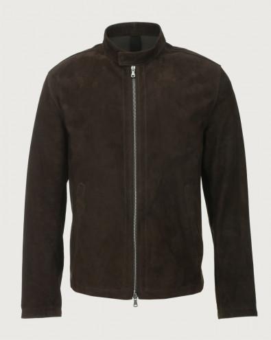 Camoscio suede biker jacket
