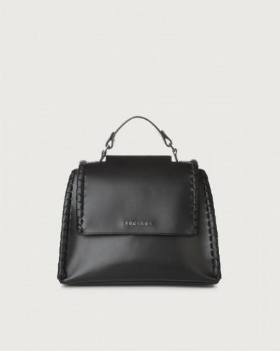 Sveva Big Mesh small leather handbag with strap