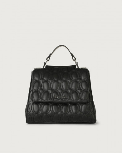 Sveva Matelassé small leather handbag with strap