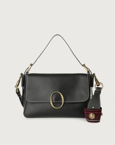 Soho Fanty Black leather baguette bag with strap