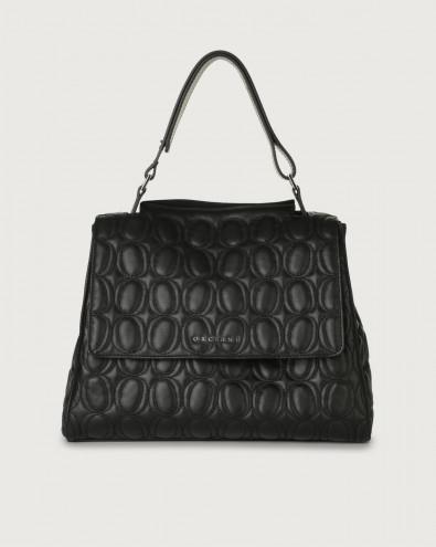 Sveva Matelassé medium leather shoulder bag with strap