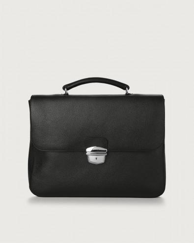 Micron leather work bag