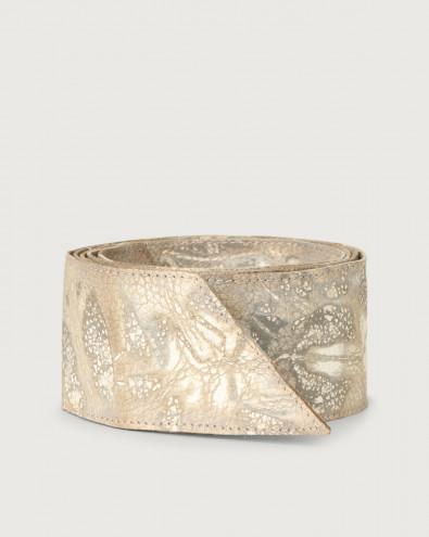 Caleido leather sash belt