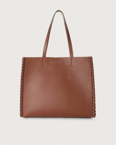 Le Sac Liberty Mesh medium leather tote bag