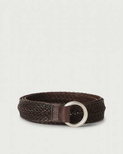 Masculine braided leather belt