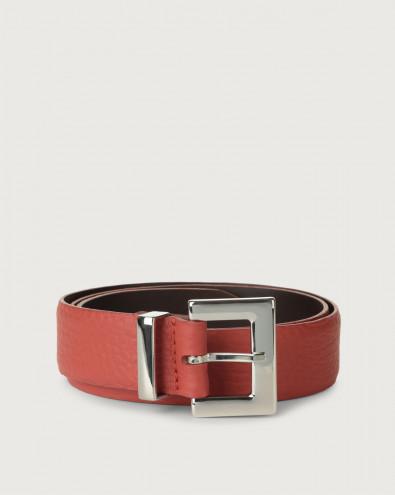 Soft leather belt palladium details