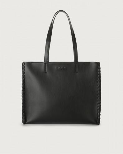 Le Sac Big Mesh leather tote bag