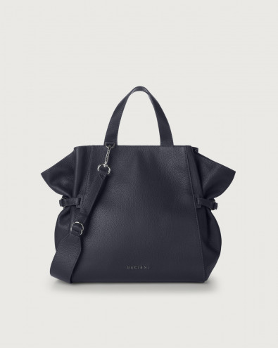 Fan Micron medium leather handbag