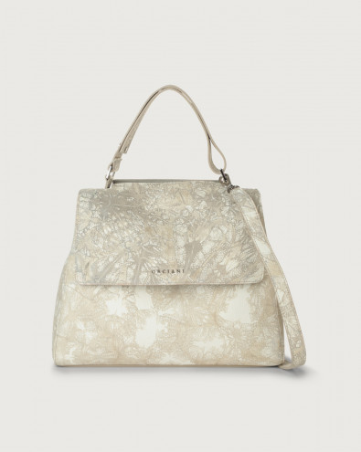 Sveva Caleido medium leather shoulder bag with strap