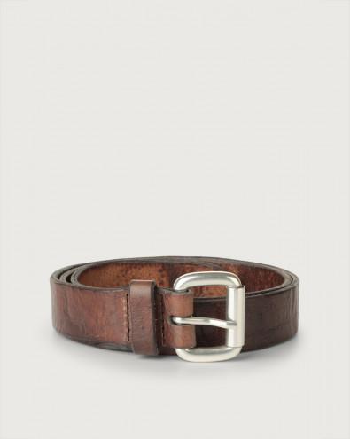 Dive Metal (i) long tip leather belt