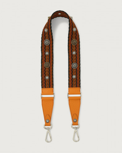 Soft Bone fabric and leather strap
