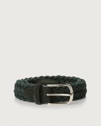 String braided stretch fabric belt