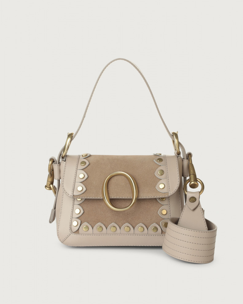 Soho Duna Stud suede and leather mini bag with strap