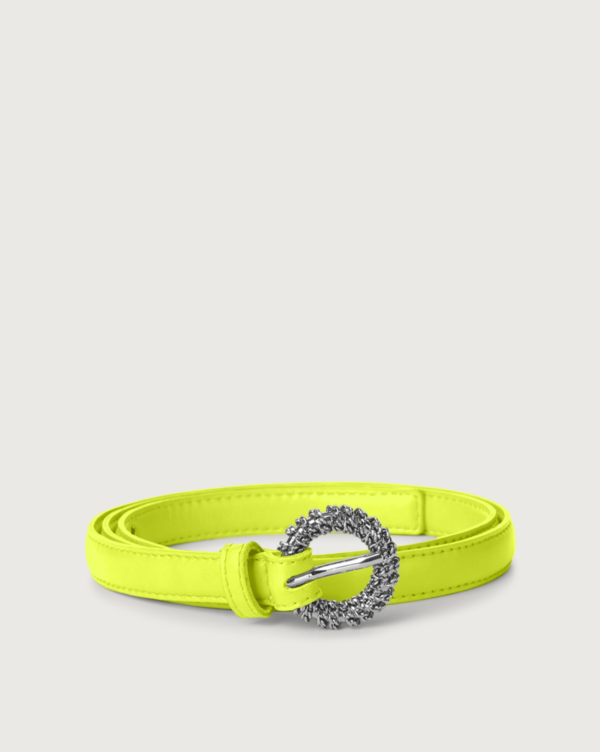 comprare on line 980d7 c5f74 Fluo thin leather belt
