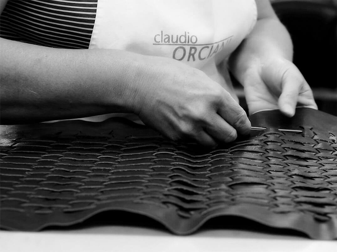 Orciani company handmade leather products